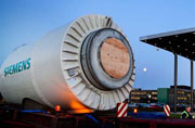 Part of a Siemens SWT-3.0 turbine during transportation